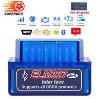 O varredor de obd2 elm327 bluetooth/wifi v1.5 com o diagnóstico de pic18f25k80 obd2 bluetooth obd ii elm 327 para o diagnóstico-ferramenta de android/pc