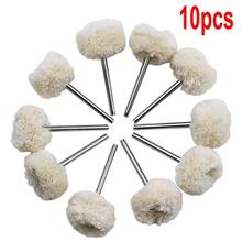10 Pieces 3mm Fine Shank Wool Polishing Head Grinding Jewelr