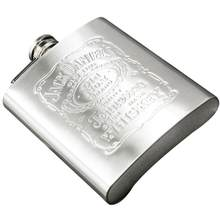 Portable Stainless Steel Hip Flask 7oz Russian Wine With Bottle Bottle Drop Drinkware Shipping Pocket Wisky Mug Alcohol Box D7S7(China)