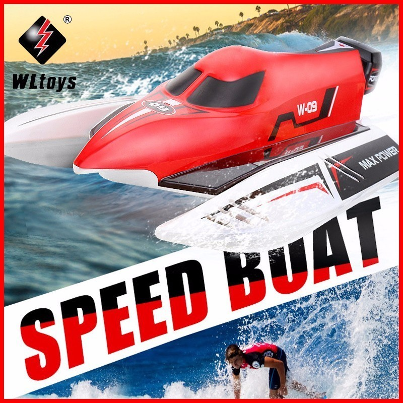 Original WLtoys WL915 2.4G Remote Control Brushless Motor Water-Cooling System High Speed 45km/h RC Racing boat VS FT009