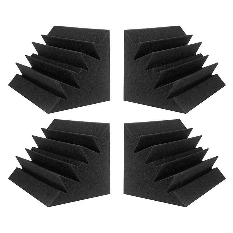 8 حزمة لوحات الصوتية عازل للصوت رغوة البلاط الصوتية استوديو رغوة الصوت أسافين 12x12x24 سم