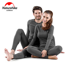 Naturehike Womens Ultra Soft Winter Base Layering Set Microfiber Fleece Thermal Underwear Long Johns with Lined