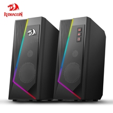 Redragon aux 3.5mm stereo surround music smart RGB speakers sound sound bar for computer 2.0 PC home notebook TV loudspeakers