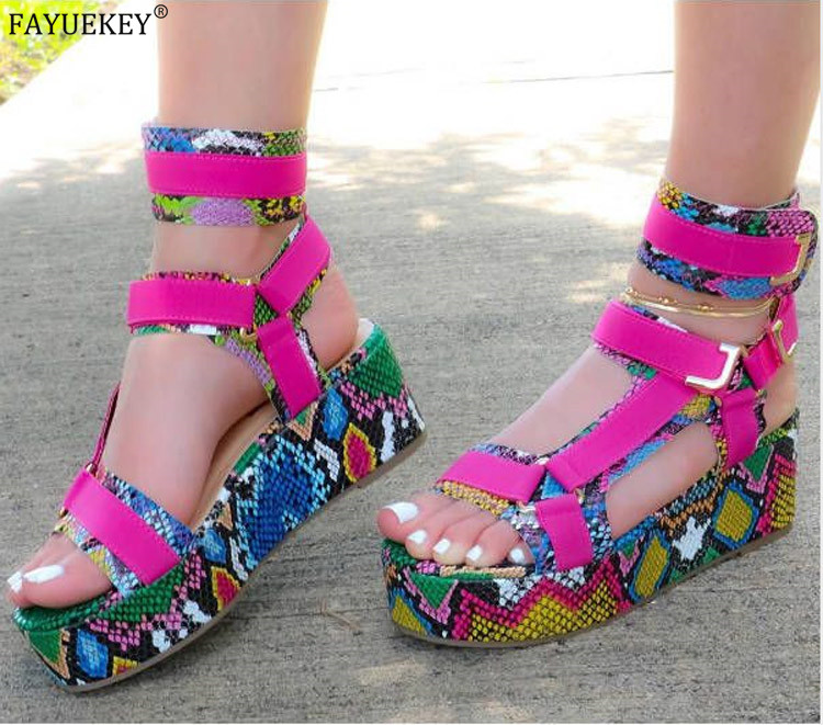 2020 Platform Sandals Women Summer High Quality Handmade Flat Sandals 7 Color Rome Casual Shoes Plus Size 34-44