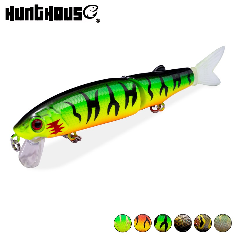 Hunthouse magallon 11.3 cm 13.7g jointed bait soft tail minnow lure noeby lure diving new products Promotion title=