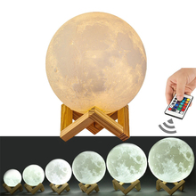 Touch Dimmable 3D Moon Lamp Bedroom Deco
