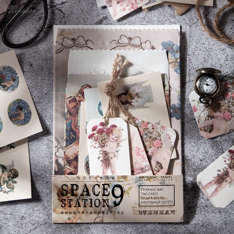 24 unids/bolsa espacio 9 Estación series Mix Material de papel basura planificador Scrapbooking decorativo Vintage papel para manualidades DIY
