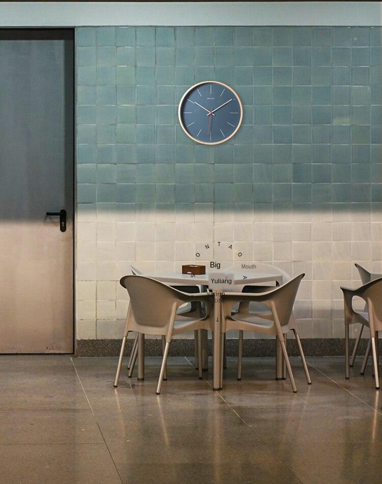 Moderno relógio de parede madeira azul sala