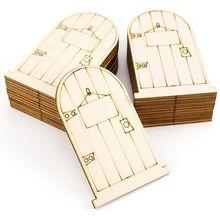 set of 25 Laser-Cut wooden fairy faerie elf doors unpainted with plaque faerie tale