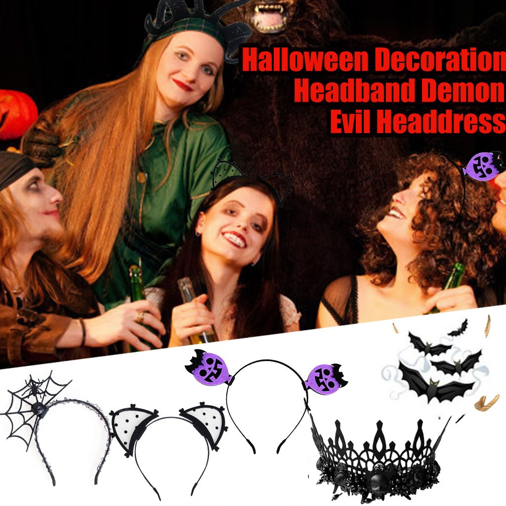 Halloween Hair Accessories Party Prom Props Headdress Ghost Crown Spider Holiday DIY Decorations Halloween Accessories