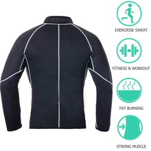 2019 The New sports Mens Neoprene Sauna Long Sleeves Fitness Thermo Shapewear High Compression Training Tops Hot Sweat Jacket