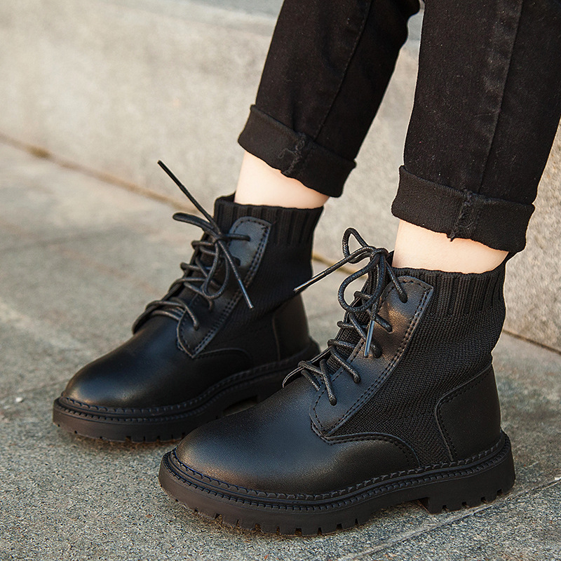 Children Leather Shoes Martin Boot Girl
