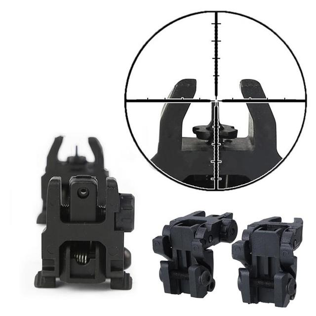 Tactical Folding Front Rear Sight Flip Up Backup Sights BuiS Set Hunting Accessories 3