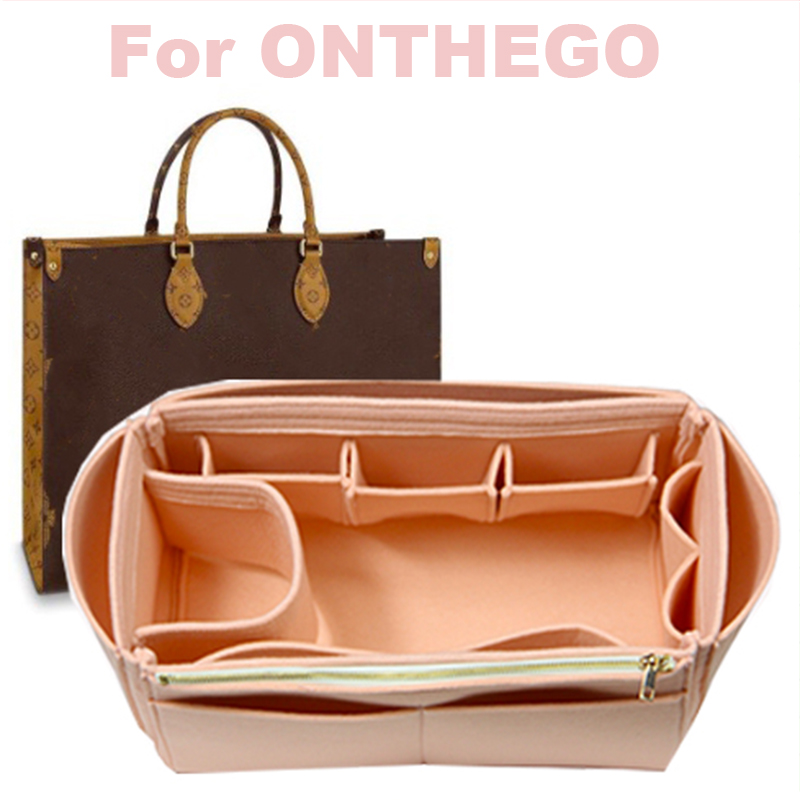 For ONTHEGO 3MM Felt Cloth Insert Speedy Bag Organizer Makeup Handbag Organizer Travel Inner Purse Baby Cosmetic Mommy Bag