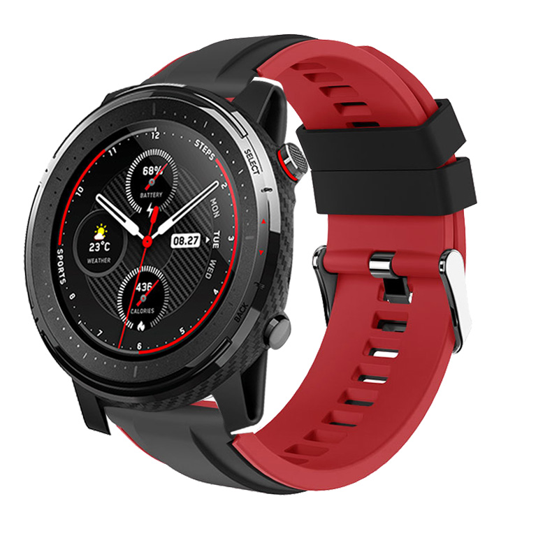 2020 New Silicone Strap For Xiaomi Huami Amazfit Stratos 3 2 2S Smart Watch Band Replaceable Bracelet Accessory For Amazfit Pace