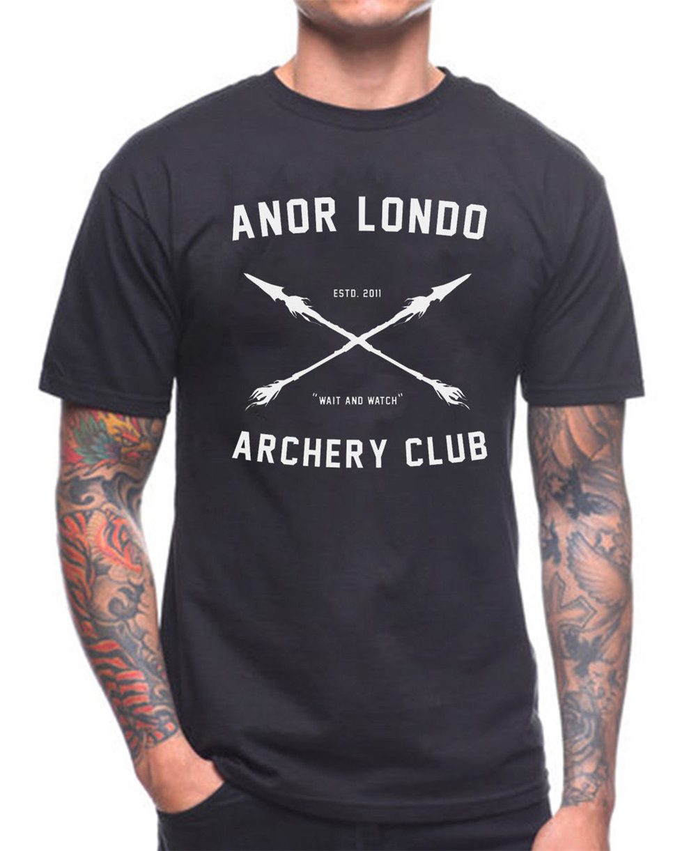 Anor Londo Archery Club T Shirt Dark Souls Xbox Game Gamer Birthday Present Loose Size Top Ajax Funny Tee Shirt image