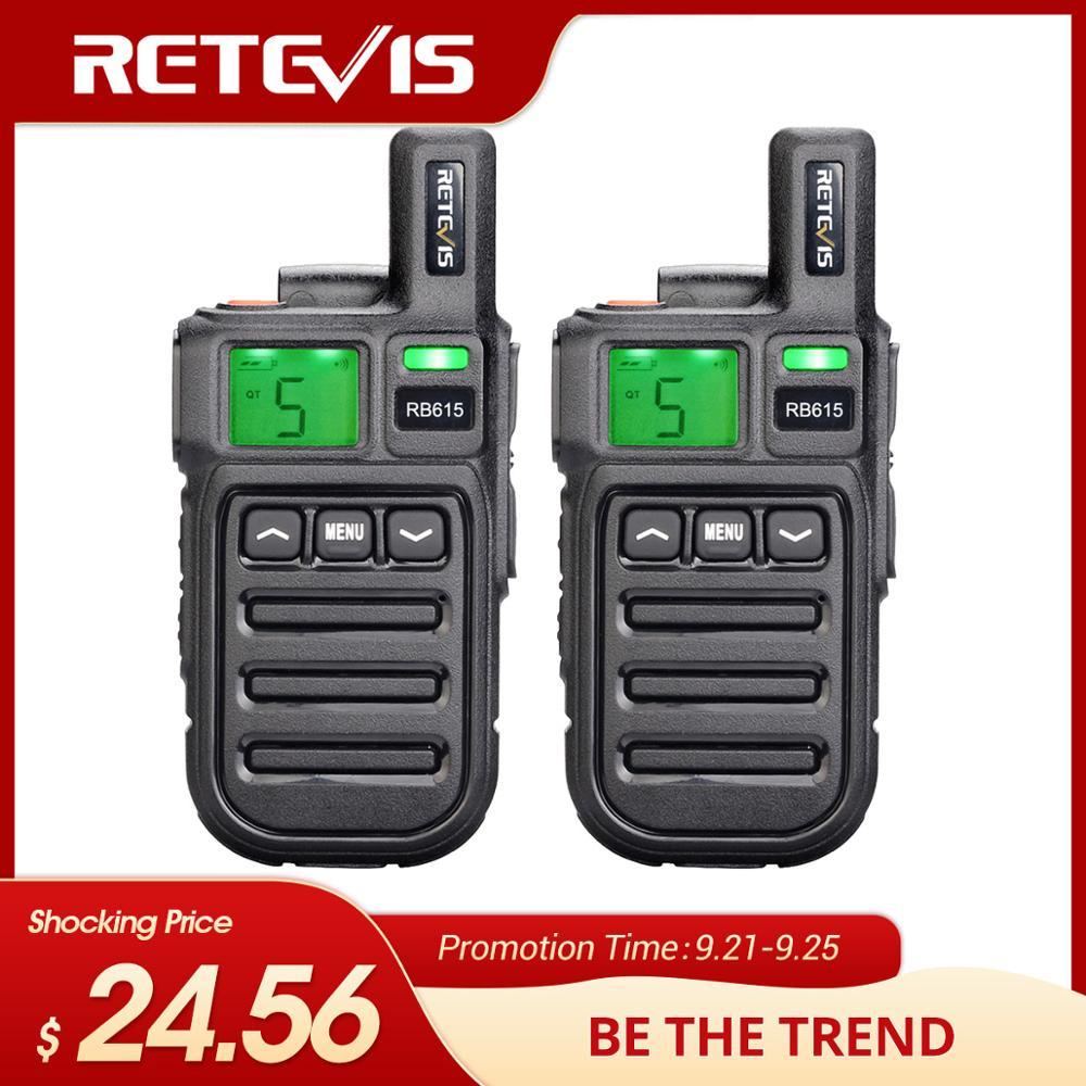 Retevis Walkie-Talkie Radio Vibration PMR RB615 Mini PMR446 2pcs with Wireless-Cloning