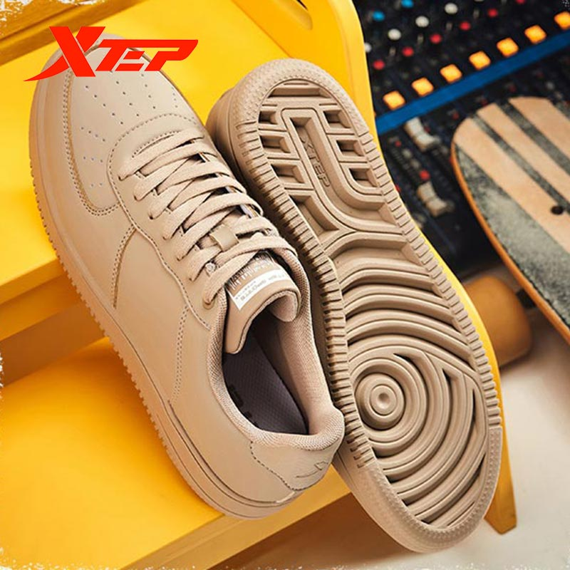 Xtep Men's Running Shoes Shock-absorbing Leather Sneakers Men's Casual Non-slip Sneakers 880119315156