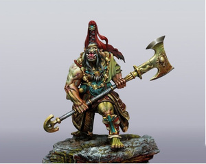Image 1 - 1/24 75mm ancient stand WARRIOR (NO BASE ) 75mm  Resin figure Model kits Miniature gk Unassembly Unpainted