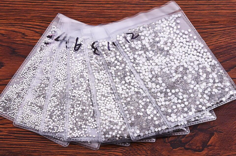 Супер Блестящий Кристалл AB Стразы SS3-SS50 не горячей фиксации FlatBack шитье стразами и ткань одежды дизайн ногтей Стразы Украшения