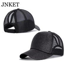 JNKET New Fashion Ponytail Baseball Cap Women Sunhat Breathable Baseball
