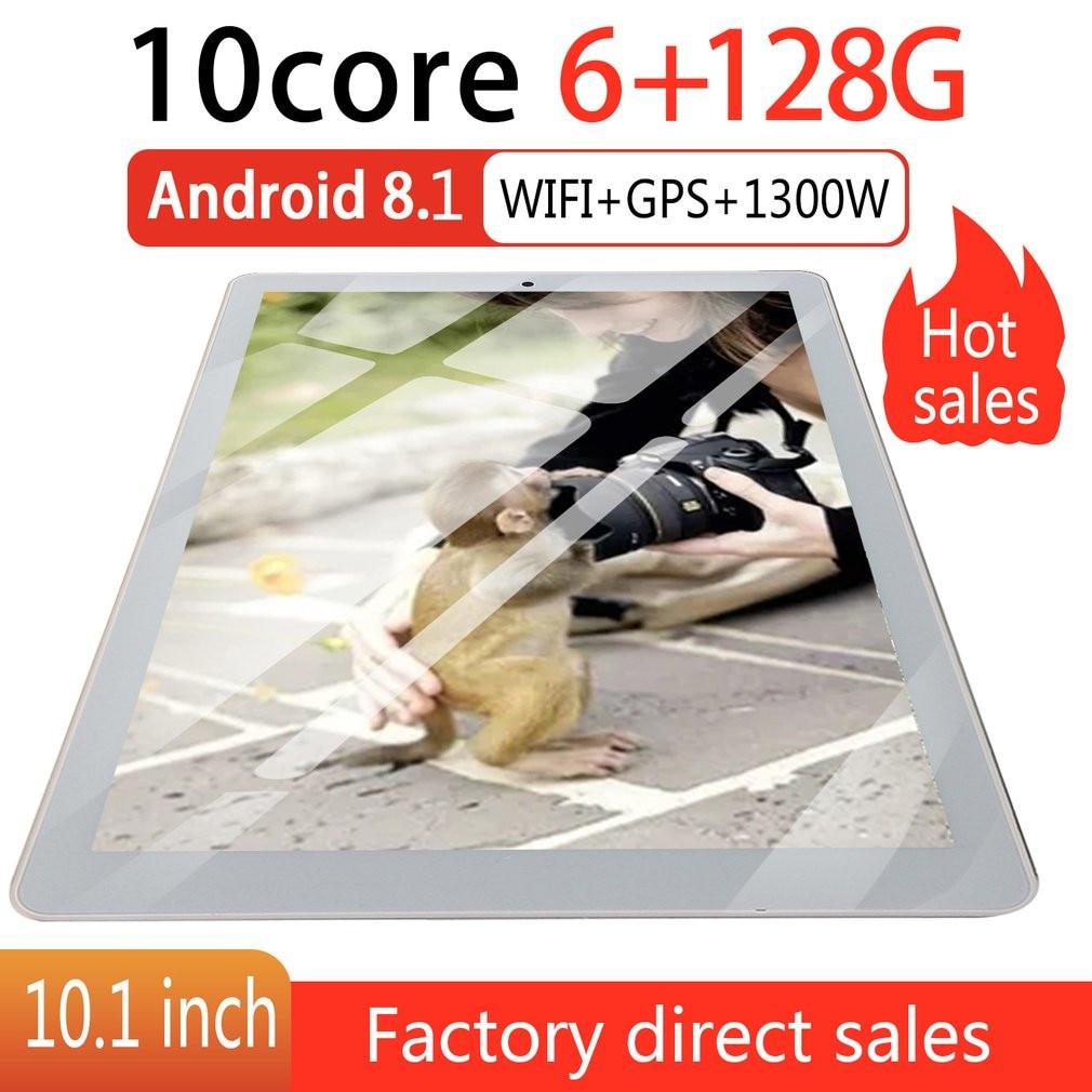 P10 Moda Tablet Da 10.1 Pollici HD Grande Schermo Android 8.10 Versione Tablet 6G + 128G Oro Portatile di Modo tablet Oro Spina di UE