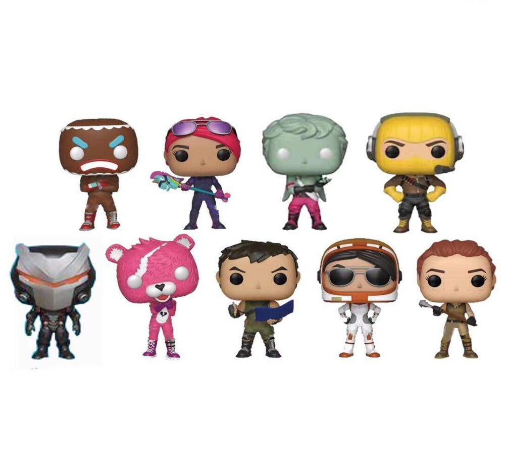 Funko POP 9pcs/lot 9cm Doll Fortnit The Fortress Night Vinyl Action Figure Collection Articles Toys Life Decorations Mini Gifts