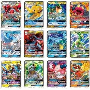 Image 4 - 100pcs Pokemon Toys GX EX MEGA Shining cards Game Battle Carte No Repeat Pikachu Card Game For Childrens Chrismas Birthday Gift