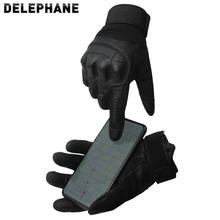 Sporty zimowe Outdoor Full Finger rękawice wojskowe mężczyźni dotykowy ekran telefonu skórzane rękawice Miltary kobiety twarde Knuckles Paintball Glove tanie tanio Delephane Dla dorosłych Unisex Skóra syntetyczna Mikrofibra spandex Stałe Nadgarstek Rękawiczki Moda D-GV119 China (mainland)