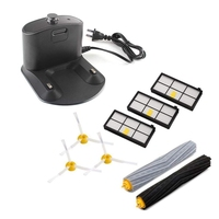 Home Base Charging Dock Extractor 3 Filters 3 Side Brushes for IRobot Roomba 800 & 900 Series 860 870 880 890 960 980 Vacuum IRo|Vacuum Cleaner Parts| |  -
