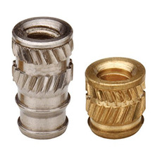 IUC-0428 Brass Insert Nut knukles Nuts Insertos Knurling Copper Rivnut Threaded Thru Inserts-Types Knurled Inserti PEM Standard