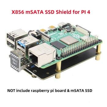 Raspberry pi 4 modelo b msata ssd placa de expansão armazenamento, x856 v1.0 usb3.1 escudo para raspberry pi 4 b