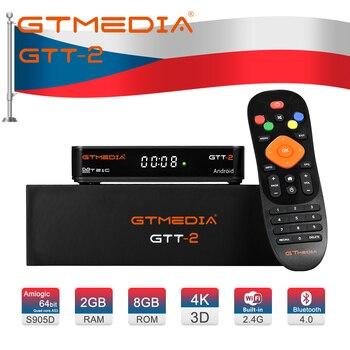 GTMEDIA GTT2 Smart tv box DVB-T2/Cable(J83.A/C)/ATSC-C/ISDBT 2GB 8GB 4K H.265 WiFi Google Youtube easy to operate Android box