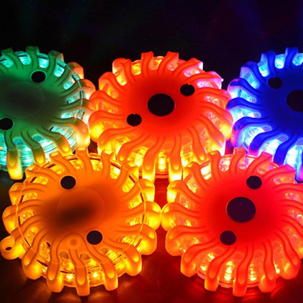 2 adet LED acil mıknatıs yanıp sönen uyarı gece ışıkları güvenlik yol Flare acil durum ışıkları için manyetik tabanı ile araba kamyon tekne