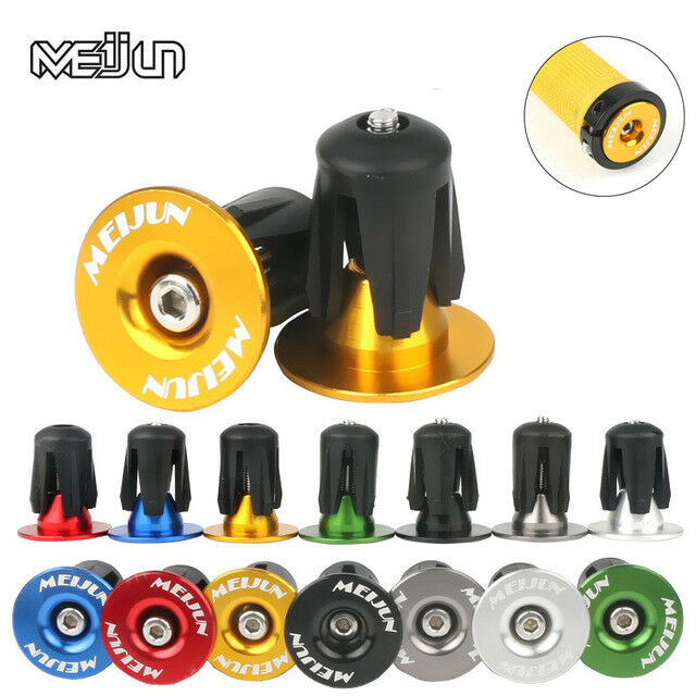 1pair Aluminum Mountain Bike Bar Ends Plugs Road Handlebar Grips Caps End Plug Superlight For MTB Handlebar Accessory