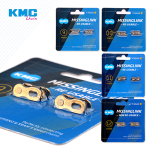 Image 1 - 2 paires KMC chaîne de vélo chaînon manquant 6/7/8/9/10/11/12 vélos de vitesse chaîne réutilisable fermoir magique argent or