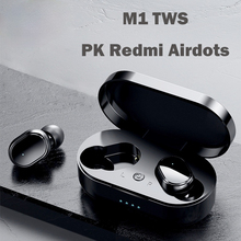 M1 TWS Bluetooth אוזניות אלחוטי אוזניות 5.0 עבור Redmi משחקי אוזניות כושר מכשירי שמיעה עבור iPhone Xiaomi Huawei טלפונים