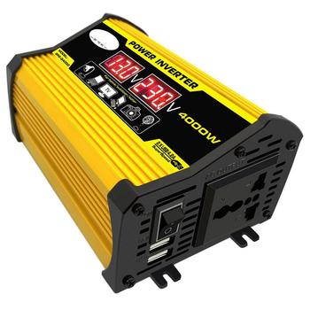 цена на 4000W 12V to 220V/110V LED Display Car Power Inverter Converter Adapter Dual USB Voltage Transformer Modified Sine Wave