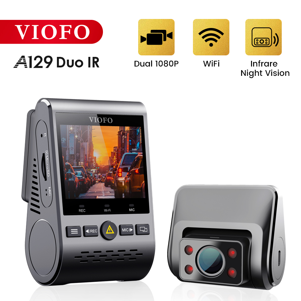 VIOFO A129 Duo IR Front And Interior Dual Dash Cam 5GHz Wi-Fi Full HD 1080P Buffered Parking Mode For <font><b>Uber</b></font> Taxi image
