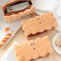 Nette Kreative Cookie Weiche Plüsch Bleistift Fall Tasche Kawaii Cartoon Keks Geldbörse Kinder Geburtstag Geschenk Schule Schreibwaren