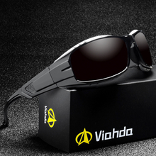 VIAHDA 新偏光サングラス男性ブランドデザインミラースポーツ高級ヴィンテージ男性サングラス男性ドライバーシェード Oculos