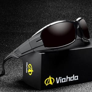 Image 1 - VIAHDA lunettes de soleil polarisées pour hommes, nouvelle marque, Sport, miroir, de luxe, Vintage, pour conducteur