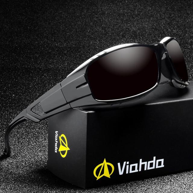 VIAHDA lunettes de soleil polarisées pour hommes, nouvelle marque, Sport, miroir, de luxe, Vintage, pour conducteur