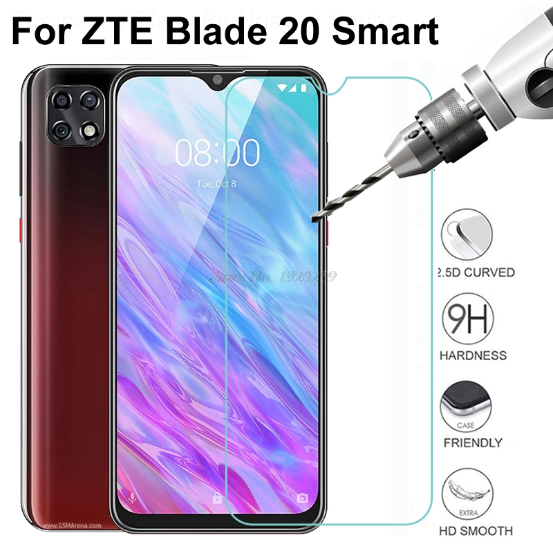 Tempered Glass Screen Protector For ZTE BLADE 20 Smart 2019 9H 2.5D Phone Protective Glass For ZTE BLADE 20 Smart 2019 Glass