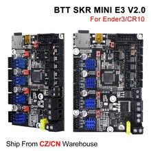 BIGTREETECH SKR MINI E3 V2 32Bit carte de contrôle avec TMC2209 UART 3D pièces d'imprimante pour Ender 3/5 Pro mise à niveau BTT SKR V1.4 Turbo
