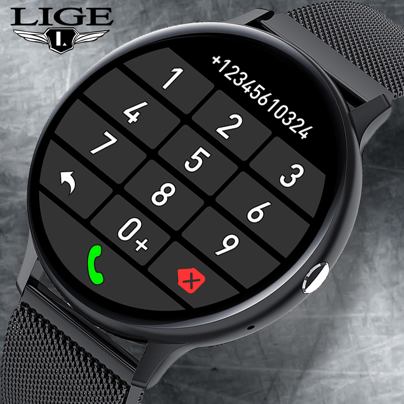 LIGE 2021 Bluetooth Answer Call Smart Watch Men Full Touch Dial Call...