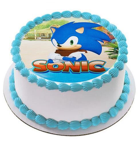 Pleasing Sonic The Hedgehog Cake Topper Edible Wafer Paper Baby Boy Funny Birthday Cards Online Inifodamsfinfo
