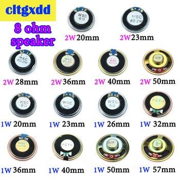 цена на 1W 2W 8R Acoustic Loudspeaker 8 Ohm 1W 2W Speaker Diameter 20 23 26 28 32 36 40 50 57 mm Round Speakers For Audio Diy Electronic