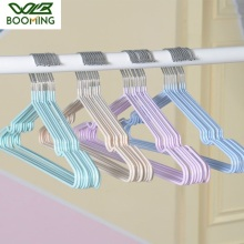 WBBOOMING 10pcs/lot Stainless Steel Drying Rack Clothes Hanger Non-Slip Space Saving Clothes Hangers With Hook Closet Organizer
