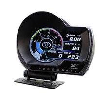LUFI XF OBD2 cyfrowy Turbo Boost ciśnienie oleju miernik temperatury wody dla samochodu RPM wskaźnik prędkości paliwa powietrza EXT miernik oleju
